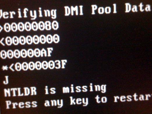 What to do NTLDR is missing?