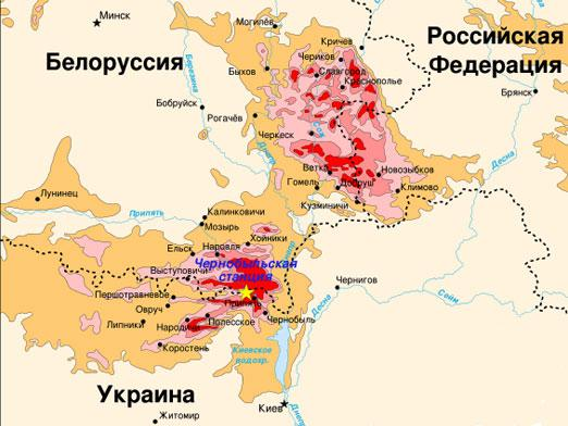 Where is Chernobyl on the map?