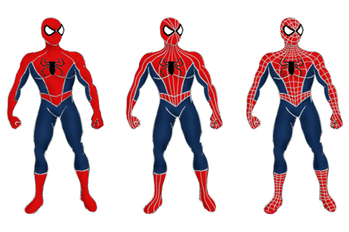 How to draw a spiderman?