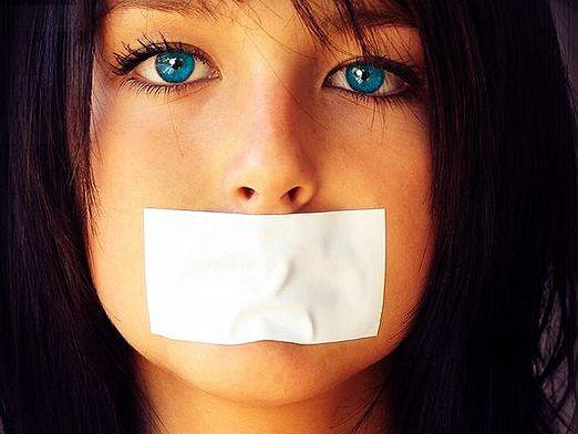 How to make a woman silent?