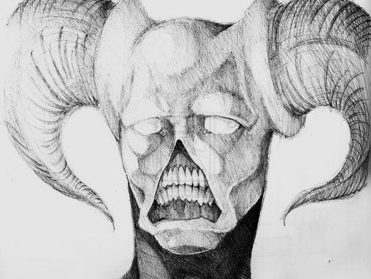How to draw a demon?
