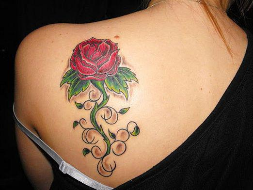What does a rose tattoo mean?