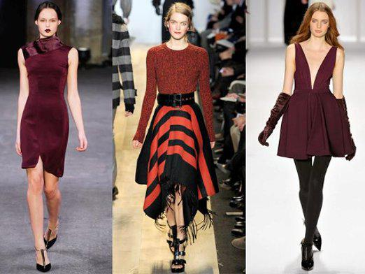 What color is combined with burgundy?