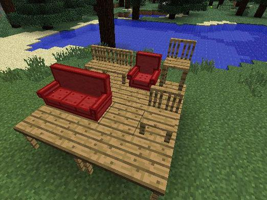 How to make furniture in minecraft?
