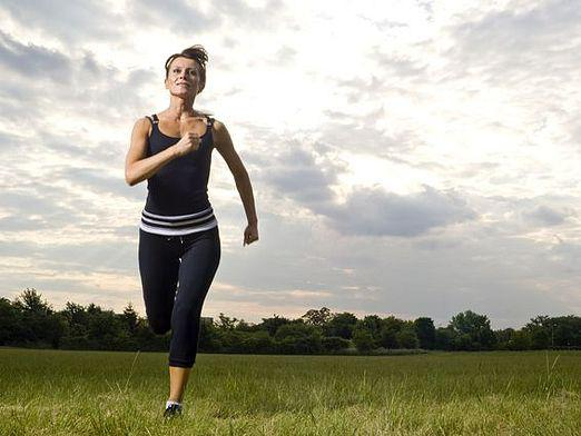 What muscles work when running?