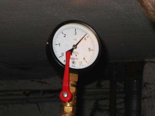 What is the pressure in the heating system?