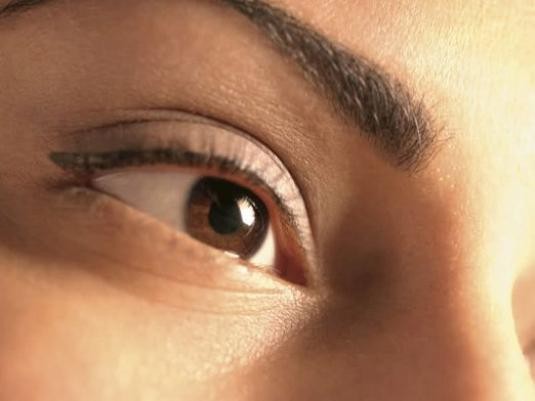 What does eye color depend on?
