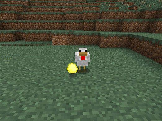 How to make an egg in minecraft?