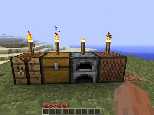 How to make a torch in minecraft?