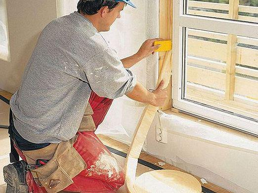 How to glue the window?