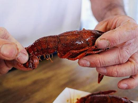 What is in the crayfish?