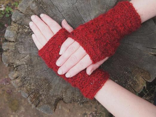 What are fingerless gloves called?