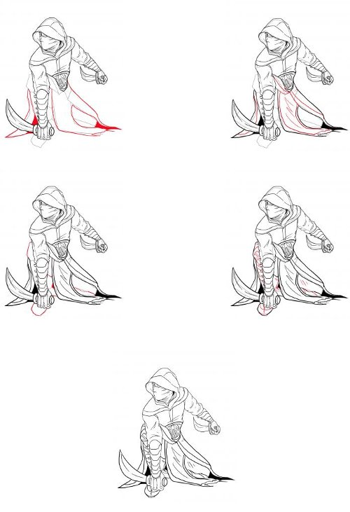 How to draw an assassin