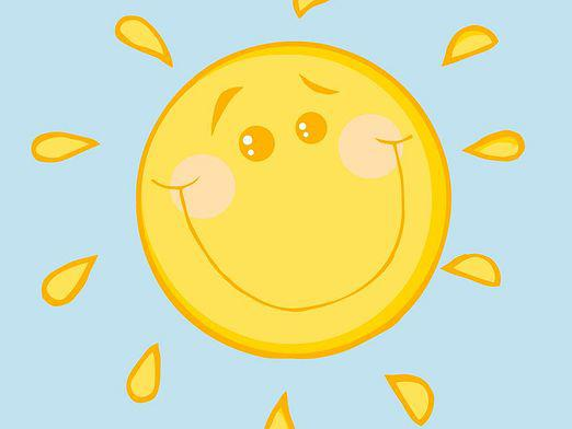 How to draw a sun?