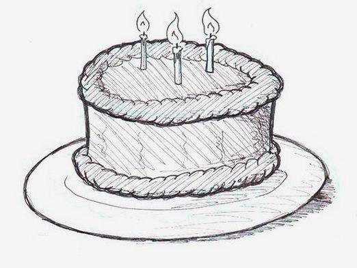 How to draw a cake?