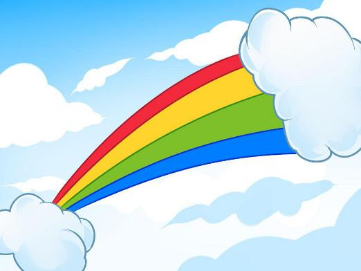 How to draw a rainbow?