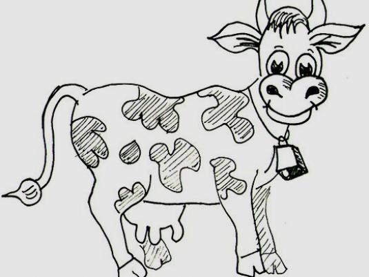 How to draw a cow?
