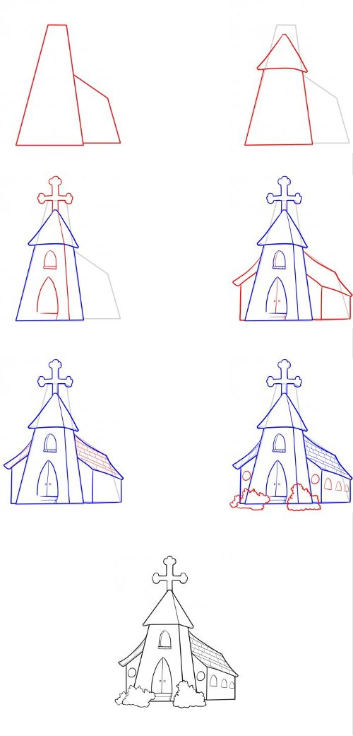 How to draw a temple