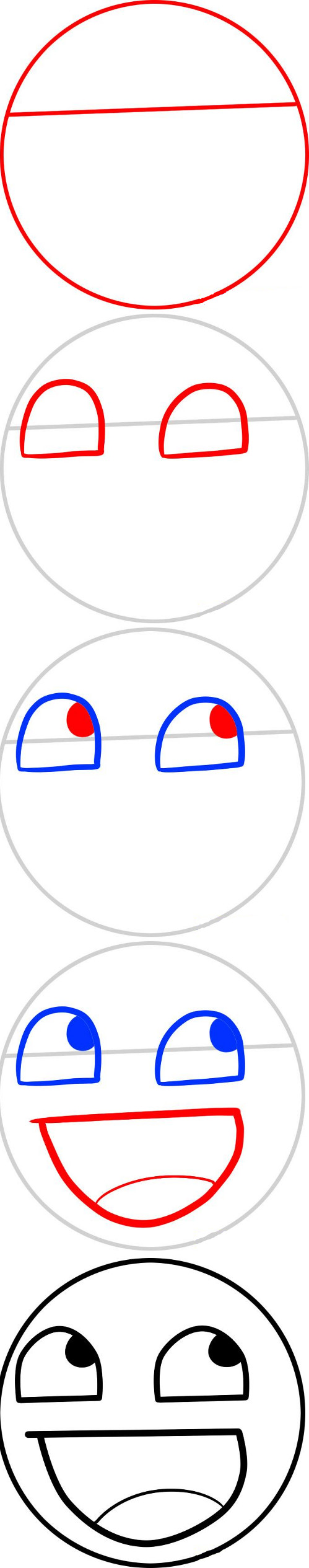 How to draw a smiley