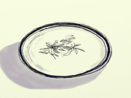 How to draw a plate?