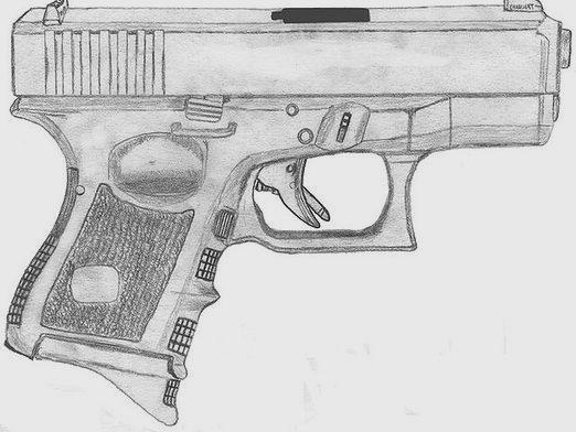 How to draw a gun?