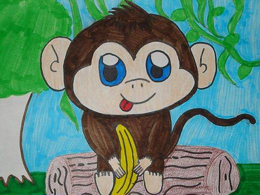 How to draw a monkey?