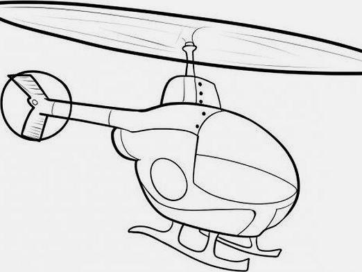 How to draw a helicopter?