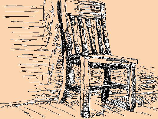 How to draw a chair?