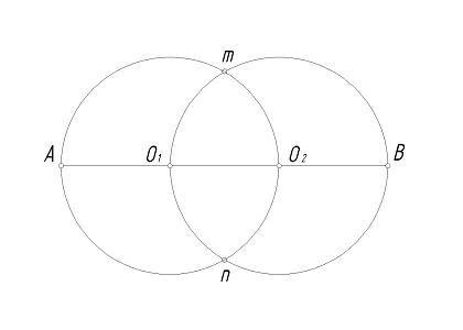 How to draw an oval: Step 2
