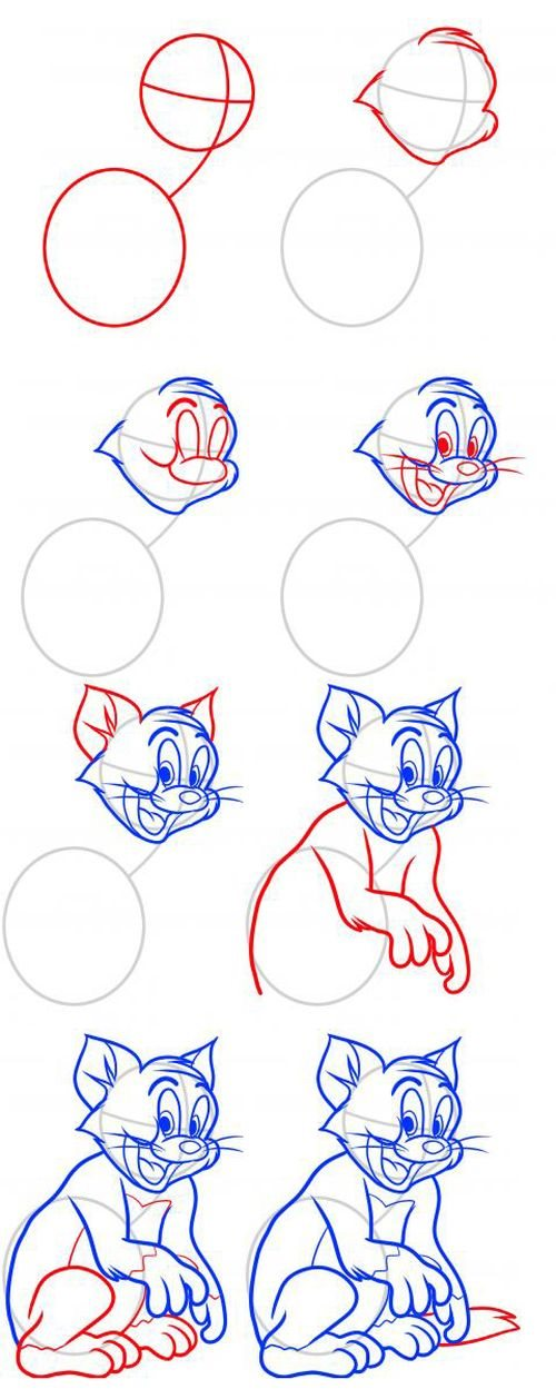 How to draw tom