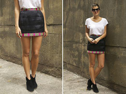 What to wear with a short skirt?