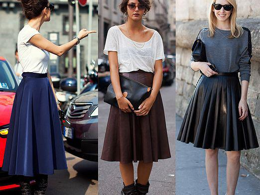 What to wear with a skirt-sun?