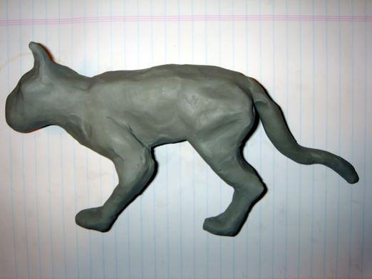 How to make a cat out of plasticine?