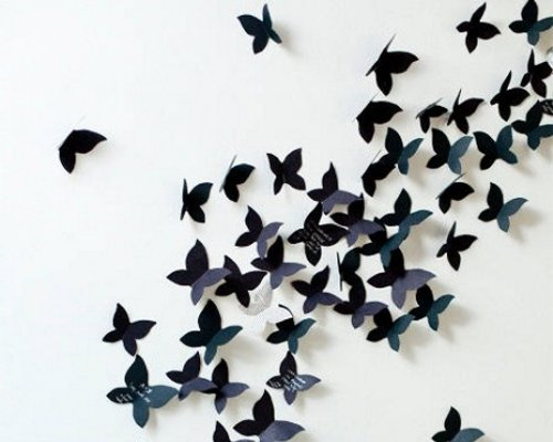 Butterflies on the wall