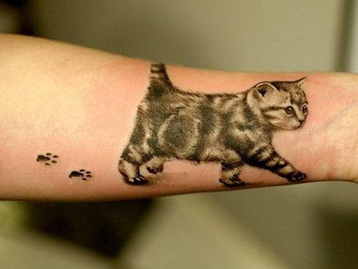 What does cat tattoo mean?