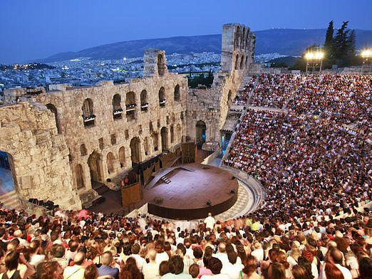 What is an amphitheater?