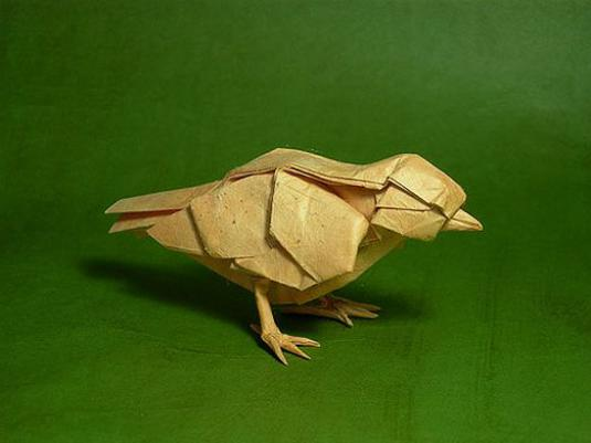 How to make a bird out of paper?