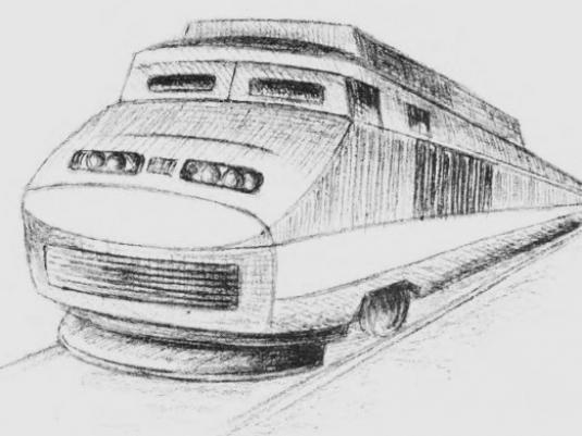 How to draw a train?