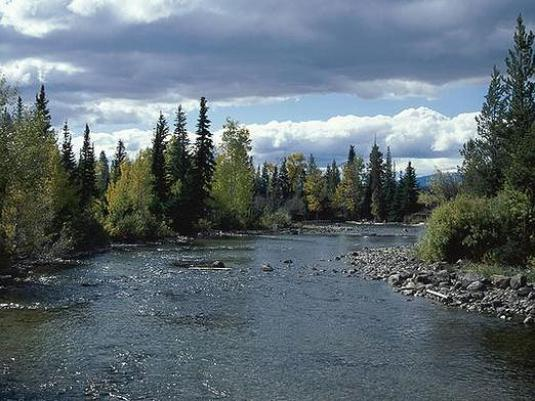 How do people influence rivers?
