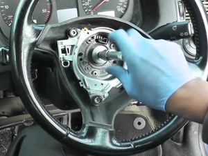 How to remove the steering wheel