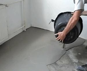 Pour concrete over the floor