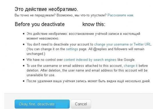 How to delete Twitter account?