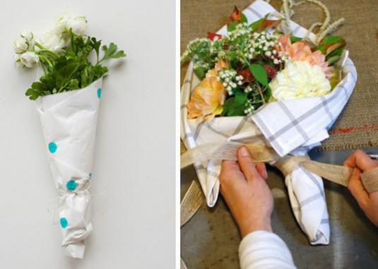 How to pack flowers?