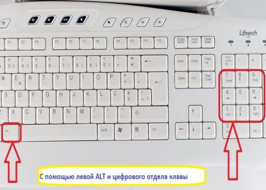 How to make a sign on the keyboard?