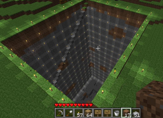 How to make a mine in Minecraft?