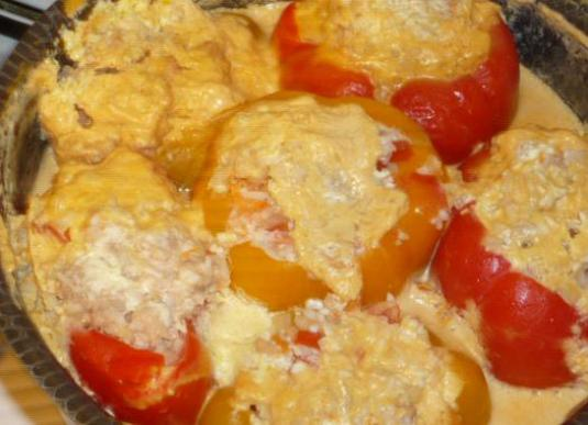 How to cook stuffed pepper meat?