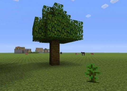 How to make a tree in minecraft?