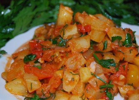 How to cook zucchini with tomatoes?