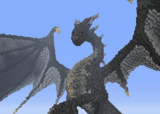 How to make a dragon in minecraft?