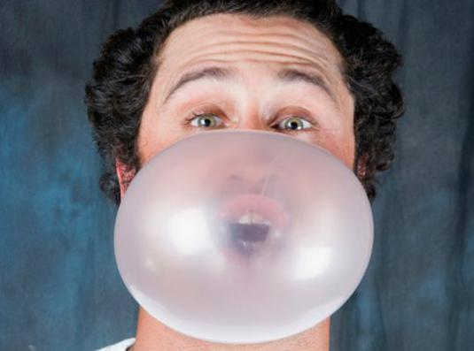 How to inflate gum?